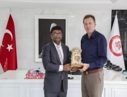 A COURTESY VISIT FROM THE AMBASSADOR OF BANGLADESH IN ANKARA